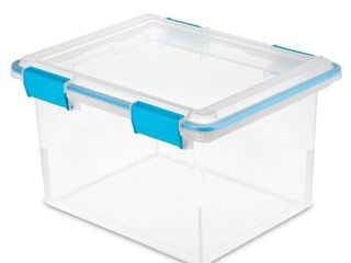 Sterilite 32qt Gasket Box Clear with Blue latches