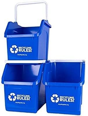 3 Pack of RecyclingRules Recycling Bins  6 Gallon