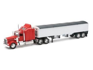 New ray Kenworth w900 Grain Hauler Tractor and trailer 1 32 scale toy model car