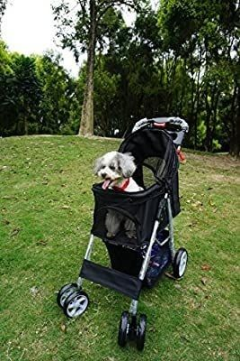 Ouzen 4 Wheel Folding Pet Stroller