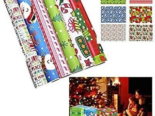 2  Christmas Wrapping Paper   30  x 118    Gift Wrap Paper   6 Pack