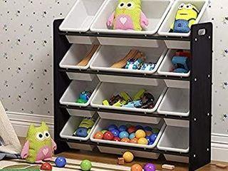 Pidoko Kids Storage Organizer w Plastic Bins