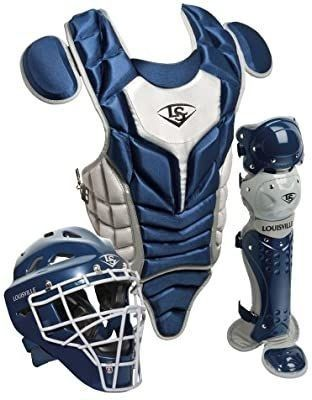louisVille Slugger 3 Piece Catcher s Set Series 5  Navy Grey