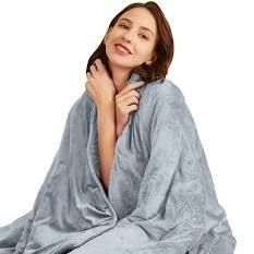 Hiseeme Weighted Blanket 25lbs  Grey