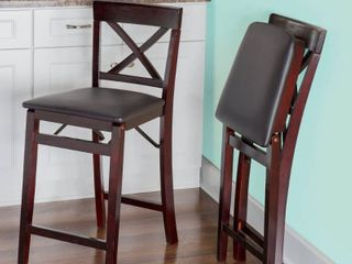 Porch & Den Lynmar Back Folding Counter Stool- Retail:$89.99