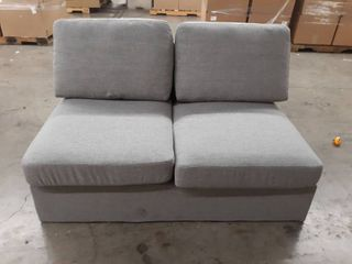 Light Grey Armless loveseat