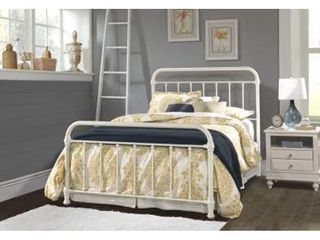 Kirkland Bed Set - Full - Metal Bed Headboard and footboard - Soft White