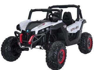 White Wild Cross UTV 12V Two Seater