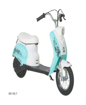 Surge Girls' 24V City Scooter, White/Teal for Girls by Dynacraft