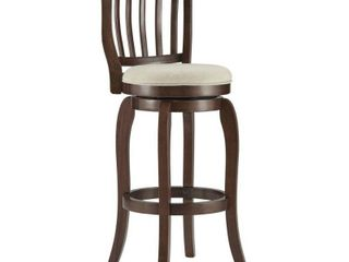Ali Modern Linen 29-inch High Back Bar Stool Swivel by iNSPIRE Q Classic
