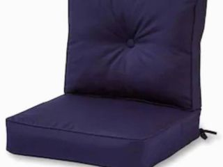 Sunbrella 2-Piece Navy Deep Seat Patio Chair Cushion