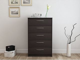 Trunks And Chests: Finch 5 Drawer Chest, Espresso