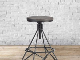 Carbon Loft Klepfer Industrial Backless Swivel Adjustable Stool