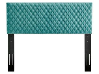 MODWAY Angela Teal Full/Queen Performance Velvet Headboard, Blue