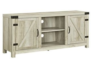 "58"" Farmhouse TV Stand in White Oak"