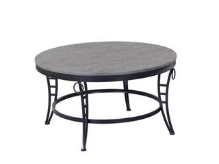 Porch & Den Erawan Emmerson Grey Oval Coffee Table