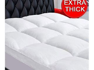 COONP King Mattress Topper, Extra Thick Mattress Pad Cover, Cooling Cotton Pillowtop 400TC Plush Top with 8-21 Inch Deep Pocket