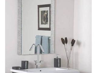 Decor Wonderland Frameless Molten Wall Mirror