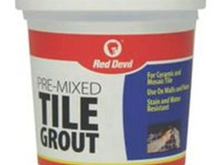 Red Devil 0428 Pre Mixed Tile Grout  1 Pint  White