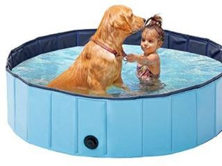 lunaoo Foldable Dog Pet Pool Portable Kiddie Pool for Kids  PVC Bathing Tub  Outdoor Swimming Pool for large Small Dogs
