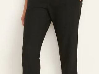 Old Navy Black Mid rise Cropped linen blend Pants Size Medium 551155