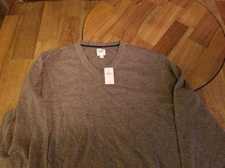 Gap Womens Mixed Stitch Sweater Size L - Gray