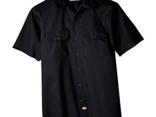 Dickies Men's Big & Tall Short Sleeve Work Shirt - Black 4XL