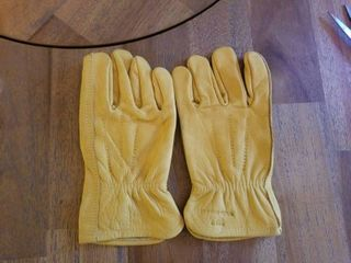 Men s Reinforced leather Work Gloves with Palm Patch  Small  Wells lamont 1129