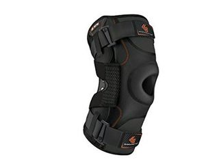 Shock Doctor Hinged Knee Brace Maximum Support Compression Knee Brace   for ACl PCl Injuries  Patella Support  Sprains  Hypertension and More for Men and Women    1 Knee Brace  XXXlarge