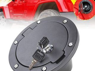 JeCar Fuel Door Cover locking Gas Cap Cover for 2007 2018 Jeep Wrangler JK   Unlimited