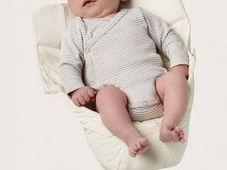 Ergobaby Easy Snug Infant Insert  Natural  Premium Cotton Baby Not Included