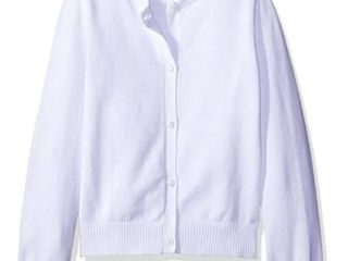 The Children s Place Big Girls  Uniform Cardigan Sweater  White 44422  Size 7 0