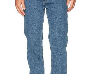 Wrangler Men's Regular Fit Comfort Flex Waist, Dark Stonewash, Size 40w X 29l Mf