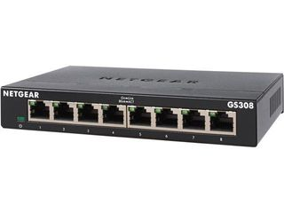 NETGEAR 8 Port Gigabit Ethernet Unmanaged Switch  GS308    Home Network Hub  Office Ethernet Splitter  Plug and Play  Fanless Metal Housing  Desktop or Wall Mount