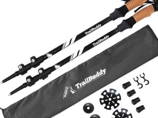 trail Buddy black trekking sticks