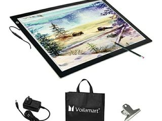 Voilamart A2 lED Tracing Board light Box light Pad Illumination light Panel  Dimmable Brightness w Paper Clip 2 Cables  for Art Craft Drawing Stencil Sketching