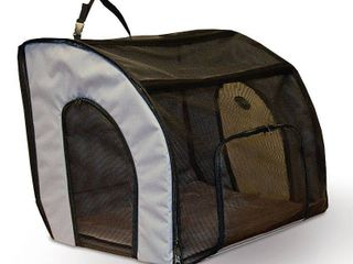 K h Pet Products Travel Safety Carrier Medium Gray 24 x 19  x 17