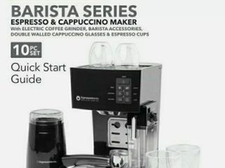 Espressoworks 10pc Espresso   Cappuccino Maker Frother   Grinder