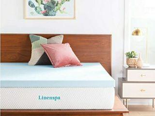 linenspa 3 Inch Gel Infused Memory Foam Mattress Topper   Twin Size