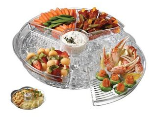 Appetizers on Ice  Serving Trays