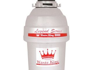 Waste King l 8000 Silver Ez Mount System  1 Hp 2800 Rpm  Continuous Feed Garbage Disposal