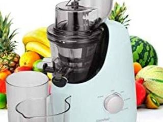COMFEE  BPA free chewy juicer extractor with ice cream maker function  large 3 4 inch chute  55 RPM Cold Slow Press Chewing and grinding  High performance  Silent motor  Reverse function Spearmint