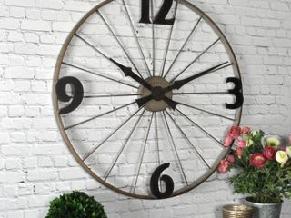 FirsTime   Co  Bicycle Wheel Clock
