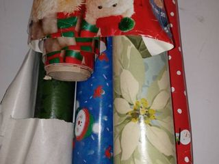 5 Rolls used Christmas wrapping paper