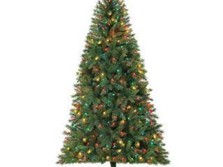 Holiday Time Prelit Fir Christmas Tree 7 5 ft  Green
