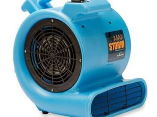Max Storm 1 2 HP Durable lightweight Air Mover Carpet Dryer Blower Floor Fan for Pro Janitorial Cleaner  Blue
