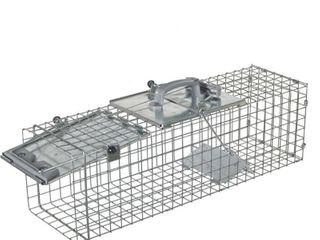 Havahart 1084 Easy Set One Door Cage Trap for Rabbits  Skunks  Minks and large Squirrels