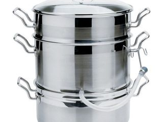 Norpro 624 Stainless Steel 11 Quart Steamer Pot and 4 Quart Juicer Container