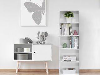 5 Tier Reversible Color Open Shelf Bookcase
