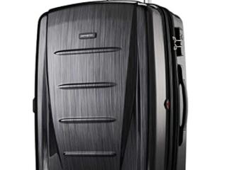 Samsonite black lockable rolling luggage